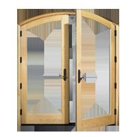 דלתות פתיחה פנימה עץ   אלומיניום