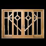דלת הזזה עץ אלומיניום