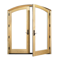 דלתות פתיחה פנימה עץ מלא
