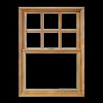 חלון גליוטינה עץ מלא