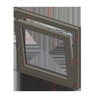 חלון קיפ – פתיחה פנימה עץ מלא