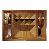 חלון bay window עץ אלומיניום